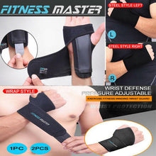Load image into Gallery viewer, Steel Wrist Support Splint Carpal Brace Thumb Protector Wrap Strap Compression