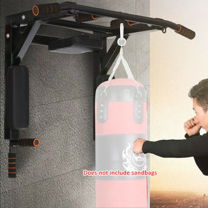 Multi  Wall Mounted Adjustable Knee Raise Pull Up Chin Up Bar Dips Station