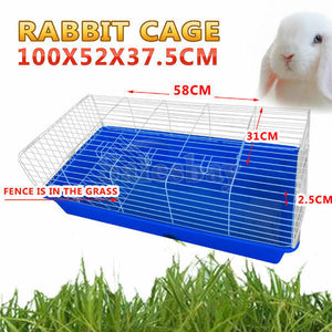 Pet Rabbit Bunny Hutch Ferret Guinea Pig Cage Run House Carrier 3 sizes