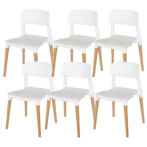 6X Stackable Chairs Belloch Replica Dining Chair Designer Cafe Bar Kitchen