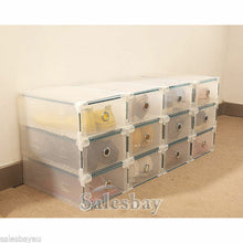 Load image into Gallery viewer, MULTI CLEAR HIGH HEEL SHOE BOX STORAGE BOXES PLASTIC DRAWER ORGANISER