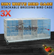 Load image into Gallery viewer, 3 in 1 Stackable Breeding Bird Cage for Canary Finch Small Birds