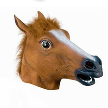 Load image into Gallery viewer, Halloween Costume Theater Latex Mask Creepy Dog Horse Head Mask Animal Party Toy