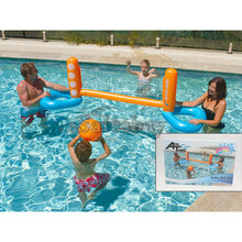 Load image into Gallery viewer, 2xAirtime Inflate Inflatable 240x62x71cm Pool Toy Water Volley Ball Net Ball