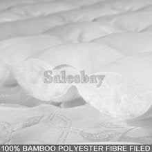 Load image into Gallery viewer, 1000GSM Bamboo Fibre Pillowtop Mattress Topper Protector  Pad Cotton Top