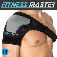 Load image into Gallery viewer, Adjustable Shoulder Support Brace Compression Strap Heat Patch Protection Sports