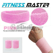 Load image into Gallery viewer, Wristbands Headband Sweatbands Sweat Band Cotton Sport Tennis Badminton Yoga