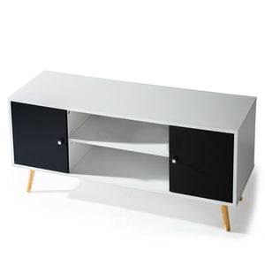 TV Stand Cabinet 116cm TV Cabinet Stand Entertainment Unit Storage Shelf