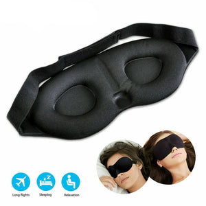 3D Sleep Eye Mask soft Travel  Memory Foam Shade Blindfold Cover Padded Sleeping
