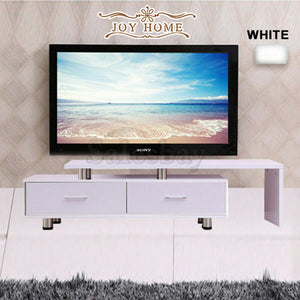 Wooden TV Stand Entertainment Unit Upto 160CM Cabinet Plasma LCD LED Black/White