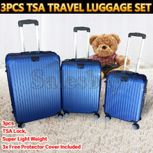 Load image into Gallery viewer, 3pcs TSA Travel Set Lightweight Luggage Trolley Suitcase Lock Carry Bag Hard Case