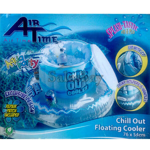 Airtime 76X54 Inflatable Inflate Chill Out Floating Cooler Ice Box Eski Pool Toy