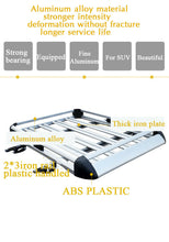 Load image into Gallery viewer, 140*100 Black Double Aluminium AlloySUV 4x4 Roof Rack Basket Cargo Luggage Carrier Box