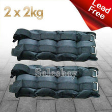 Load image into Gallery viewer, Total 2kg 4kg 5kg 10kg Adjustable Ankle Wrist Fitness Weights Exercise Weight