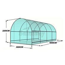 Load image into Gallery viewer, 6X3X2M Large Walk In Greenhouse Green House Plant Shed PE Cover Arch Roof Tunnel