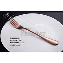 Load image into Gallery viewer, 16-60 Piece Stainless Steel Cutlery Set Black Rose Gold Rainbow Knife Fork Spoon