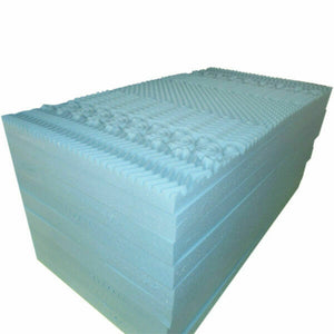 7-Zone Gel Infused BAMBOO Fabric Cover Memory Foam Mattress Topper 5/8CM Sizes