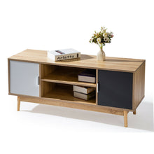 Load image into Gallery viewer, 120CM TV Stand Cabinet Entertainment Unit LCD LED Storage Shelf Wooden Legs