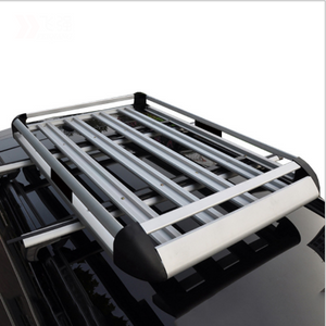 160*100 Black Double Aluminium Alloy SUV 4x4 RoofRack Basket Cargo Luggage Carrier Box