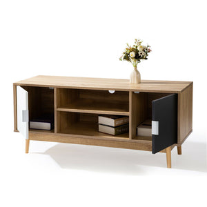 120CM TV Stand Cabinet Entertainment Unit LCD LED Storage Shelf Wooden Legs