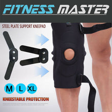 Load image into Gallery viewer, Double Metal Hinged Full Knee Support Brace Knee Protection Strap Sleeve Pad