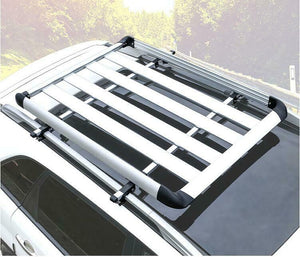 140*100 Black Single Aluminium AlloySUV 4x4 RoofRack Basket Cargo Luggage Carrier Box