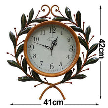 Load image into Gallery viewer, 41cm Round Wall Clock Metal Industrial Iron Vintage French Provincial Antique