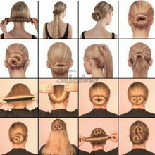 Load image into Gallery viewer, Women's Magic Hair Band Maker Bun Snap Donut Former French Twist Tool Styling