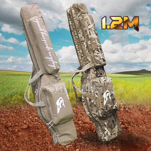 1.2m Hunting Shooting Carry Case Shotgun Rifle Gun Slip Double Bag