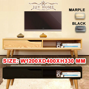Wooden TV Stand Entertainment Unit 120CM Cabinet Plasma LCD LED Lowline