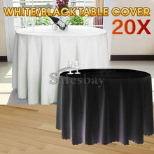 Load image into Gallery viewer, White Round Tablecloths Deco Table Cloth Fibre Wedding Event Party Function