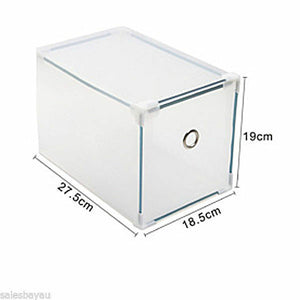 MULTI CLEAR HIGH HEEL SHOE BOX STORAGE BOXES PLASTIC DRAWER ORGANISER