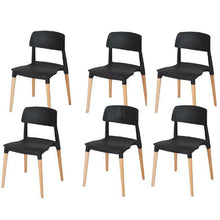 Load image into Gallery viewer, 6X Stackable Chairs Belloch Replica Dining Chair Designer Cafe Bar Kitchen