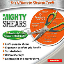 Load image into Gallery viewer, Scissor Multi Purpose Mighty Shears Peeler Slicer Screwdriver Opener Tool