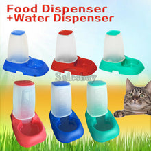 Load image into Gallery viewer, Automatic Pet Dog Cat Puppy Water / Food Feeder Fountain Bowl Dish Dispenser