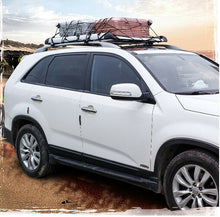 Load image into Gallery viewer, 140*100 Black Single Aluminium AlloySUV 4x4 RoofRack Basket Cargo Luggage Carrier Box