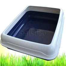 Load image into Gallery viewer, Large Quaity Pet Cat Kitty Litter Pan Tray Box With Rim 56X44X15cm