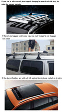 Load image into Gallery viewer, 160*100 Silver Double Aluminium Alloy SUV 4x4 Roof Rack Basket Cargo Luggage Carrier Box