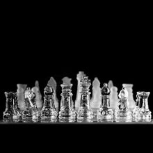 Load image into Gallery viewer, Extra Large Elegant 35 x 35 cm Frosted Glass Chess Board Game Set (Chess-Large)