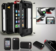 Load image into Gallery viewer, iPhone X 8 6 7 HEAVY DUTY Shockproof Bumper Aluminum Metal Cover Case Waterproof