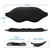 Load image into Gallery viewer, 3D Sleep Eye Mask soft Travel  Memory Foam Shade Blindfold Cover Padded Sleeping
