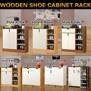 Large Shoe Cabinet Rack Wooden Drawer Cupboard Shelf Organization Chest