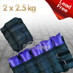 Total 2kg 4kg 5kg 10kg Adjustable Ankle Wrist Fitness Weights Exercise Weight