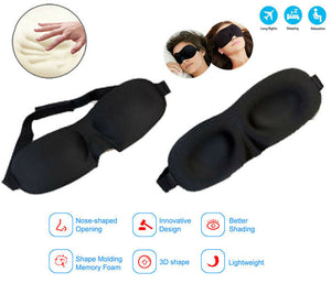 Sleeping Travel  Eye Mask Blindfold Sleep 3D Light Blinder Shade Relax Cover