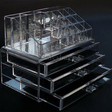 Load image into Gallery viewer, Acrylic Cosmetic Organizer Drawers Clear Jewellery Box Makeup Storage