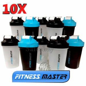 10X GYM Protein Supplement Drink Blender Mixer Shaker Shake Ball Bottle 500ml