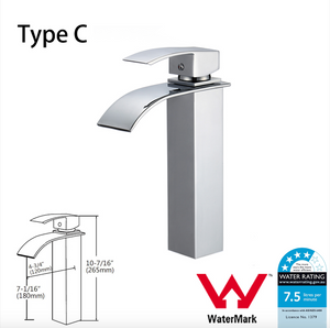 WELS Kitchen Bathroom Laundry Shower Water Basin Mixer Tap Vanity Sink Faucet -Type C