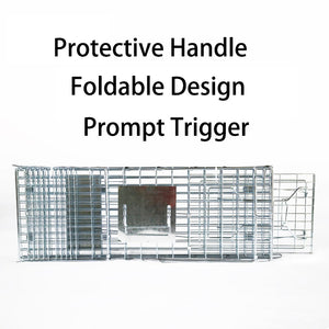 17inch Foldable Live Animal Trap Possum Feral Cat Rabbit Bird Animal Dog Hare Fox Cage Live Humane Catch