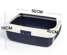 Load image into Gallery viewer, Large Quaity Pet Cat Kitty Litter Pan Tray Box With Rim 50X40X16cm