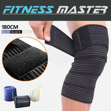 Load image into Gallery viewer, High Elastic Thigh Knee Sports Support Brace Bandage Compression Wrap Strap 180CM